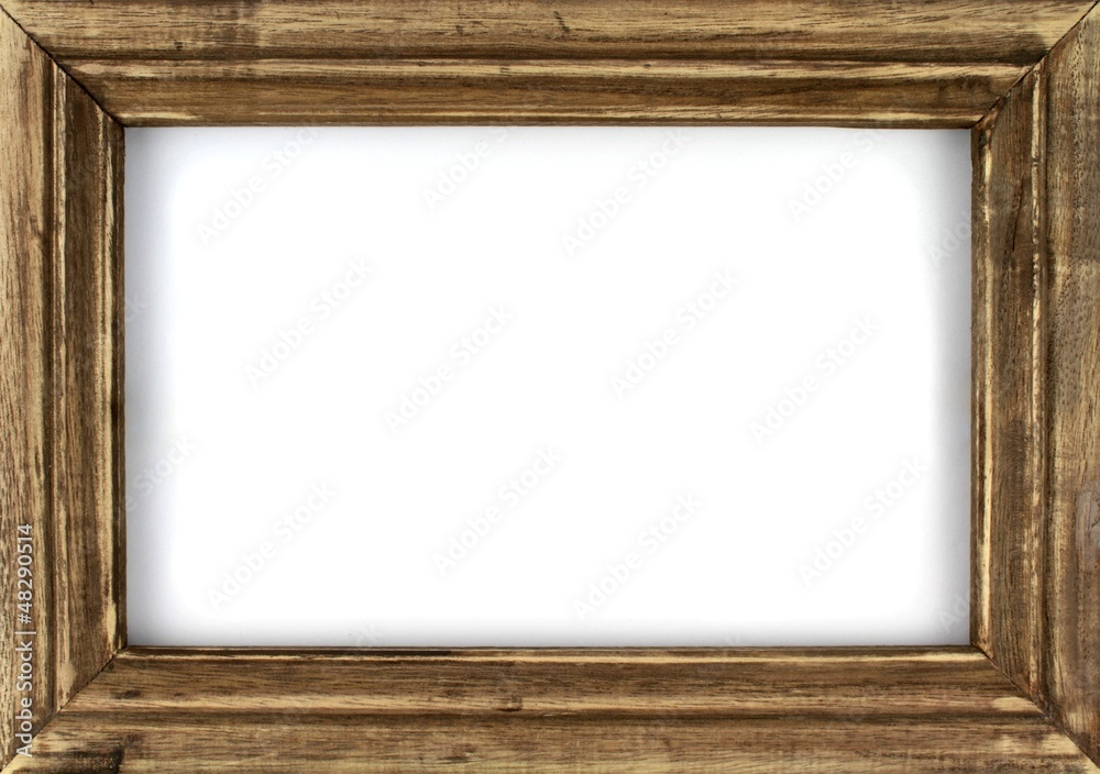 Fototapeta Old picture frame isolated on white background.
