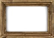 canvas print picture - Old picture frame isolated on white background.