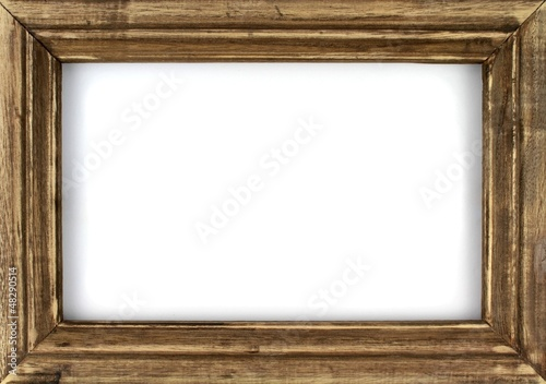 Canvastavla Old picture frame isolated on white background.