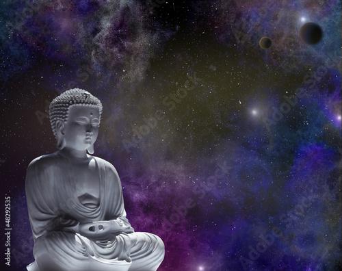 Doppelrollo mit Motiv - Cosmic Buddha