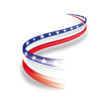 Abstract Wave American Flag