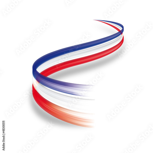 Fotografía  Abstract wave English and French flag