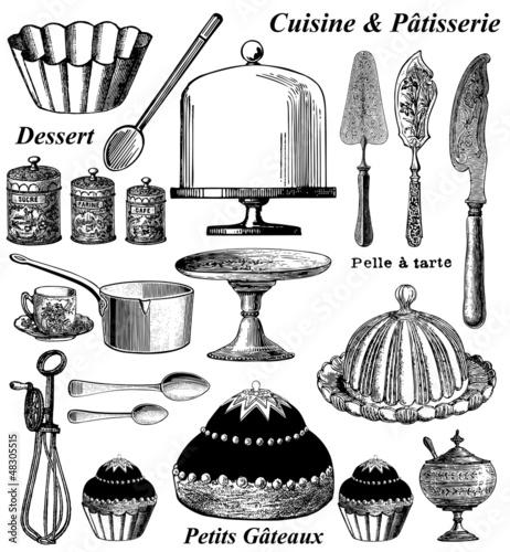 Fotografie, Obraz  Elements de pâtisserie