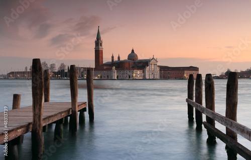 Foto op Plexiglas Venetie venetian landscape at sunset