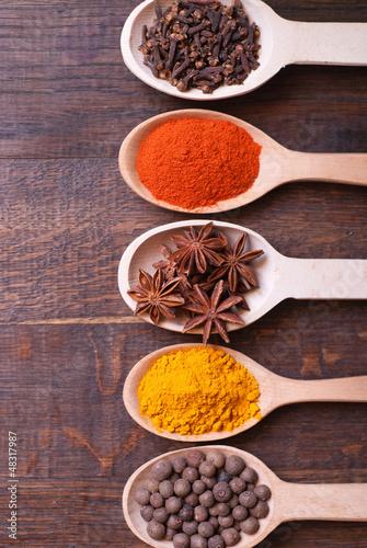 Foto op Canvas Kruiden Spices