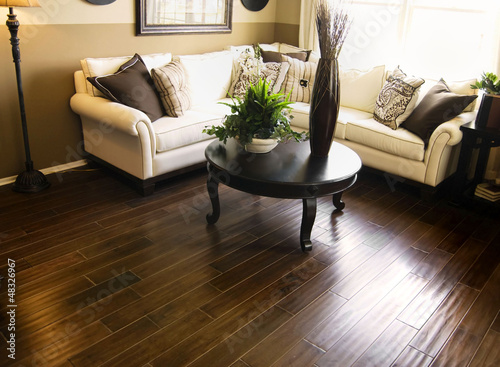 Fotografie, Obraz  Hard wood flooring in living room area