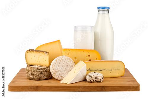 Staande foto Zuivelproducten cheese