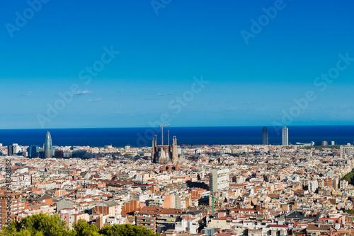 In de dag Barcelona Cityscape of Barcelona. Spain.