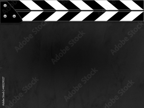 Photo  Clapper board or slate black board with texture