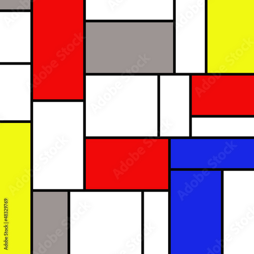 Photo  Colorful rectangles in mondrian style