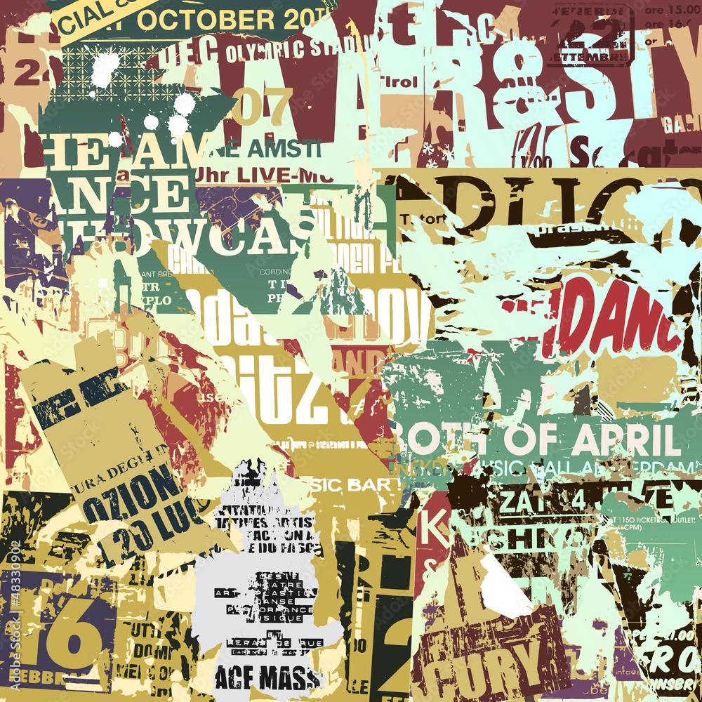 Fototapeta Old Torn Posters