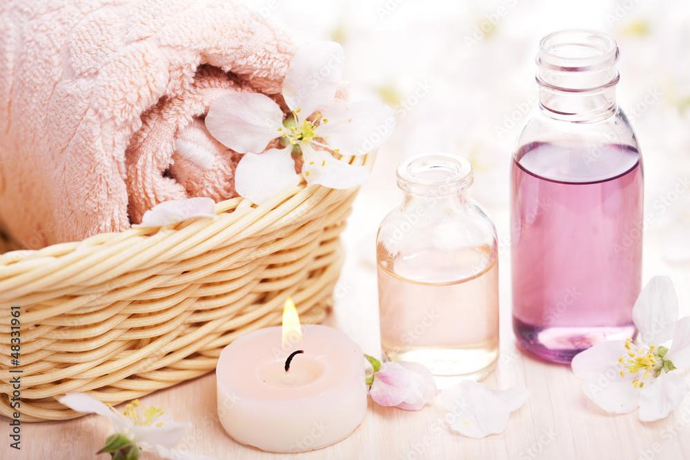 Plissee mit Motiv - spa and aromatherapy