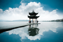 Chinese Ancient Pavilion On Th...