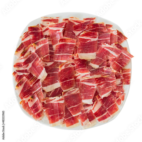Foto  dry-cured ham slices