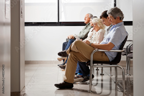 Fotografie, Obraz  People Waiting For Doctor In Hospital Lobby