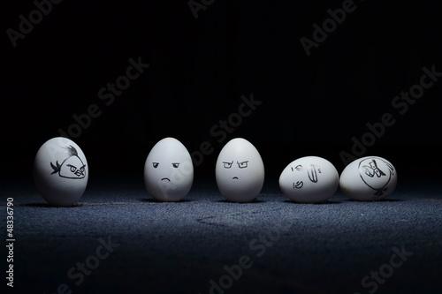 Fotografie, Obraz  Kreativita - Angry Birds Vs Vejce