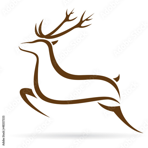 wektorowa-ilustracja-jeleni-symbol-tatuaz