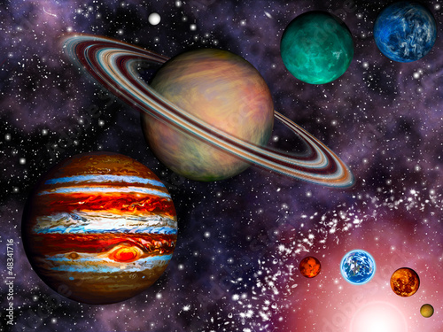 Naklejki kosmos tapeta-3d-ukladu-slonecznego