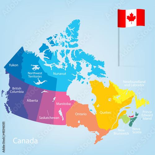 Canada_Map Wallpaper Mural