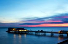 Cromer Pier At Sunrise On Engl...
