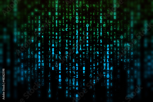 Fotografie, Obraz  Matrix, blur background
