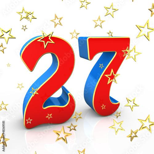 Открытка 27 лет день рождения