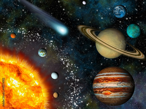 Realistic 3D Solar System Wallpaper - Buy this stock