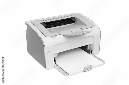 Fotografía  laser printer isolated on white background