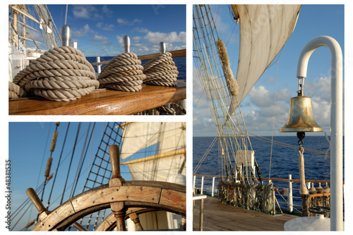 Romantic Travel, Sailing Frigate, Tall ships - 48381535