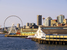 City Skyline Of Seattle Washington USA