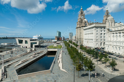 Photo  Liverpool pierhead, part of the UNESCO world heritage site