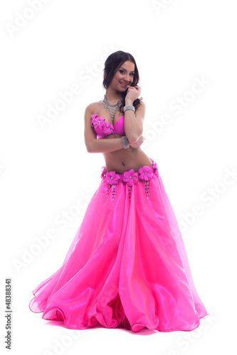Garden Poster Beautiful dancer in pink costume