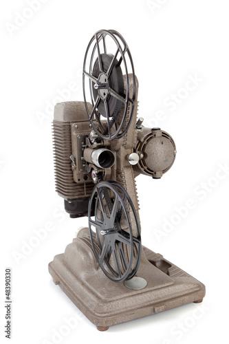 Foto op Plexiglas Retro Vintage movie projector on a white background