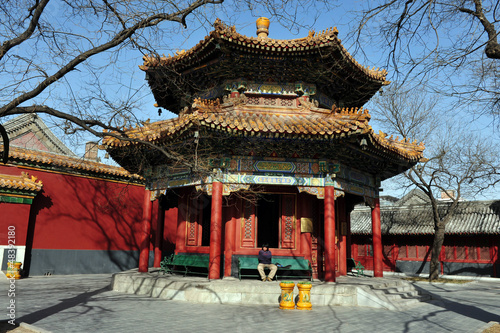 Foto op Aluminium Beijing The Lama Temple in Beijing China