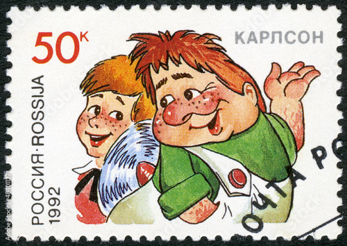 RUSSIA - 1992: shows The Kid and Carlson Poster