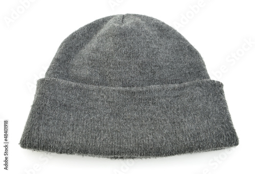 Wool beanie hat isolated on white background - Buy this stock photo ... dc6918af537