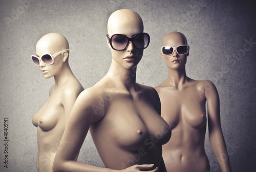 fashion mannequins Wallpaper Mural