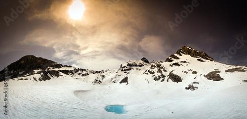 Fotografie, Obraz  Laghetto smeraldo al Passo dello Stelvio - Italy