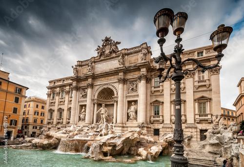 Fontaine de Trevi à Rome Canvas Print