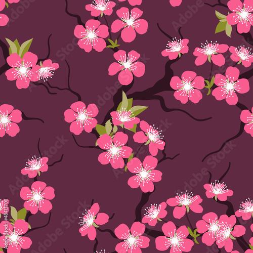 kwiat-wisni-bezszwowe-kwiaty-wzor