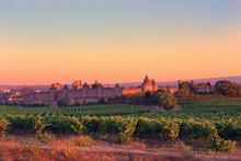 Carcassonne At Sunrise