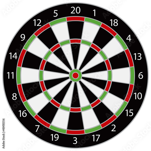 Fotomural Dartboard Illustration