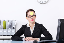 Businesswoman At Office With P...