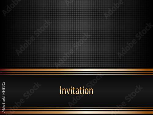 Fototapeta Black invitation obraz