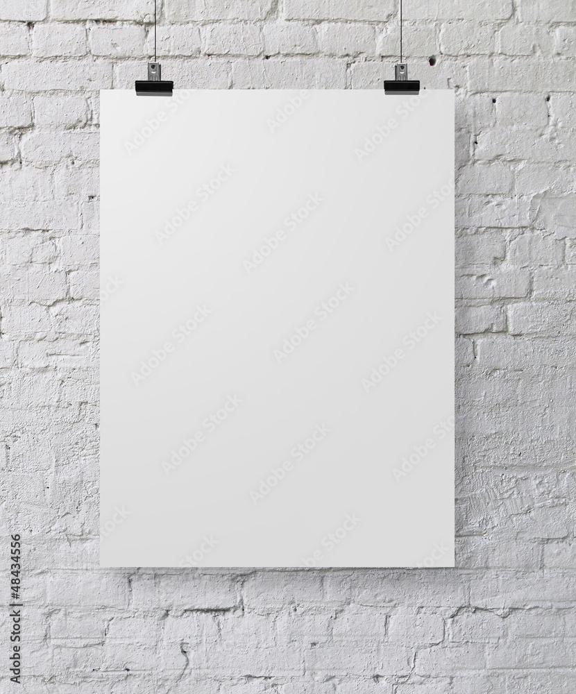 Fototapety, obrazy: white poster