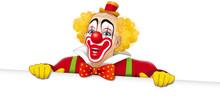 Clown Sorridente Con Cartello ...
