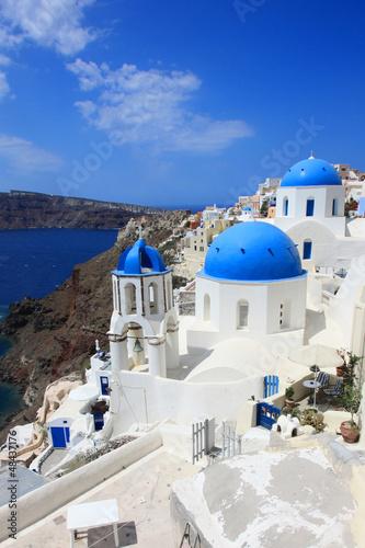 Papiers peints Santorini Grèce - Santorin (Eglise à Oia)