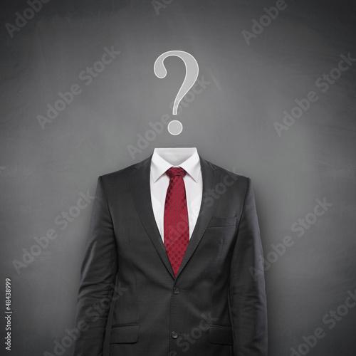 Question Mark with Suit Tablou Canvas