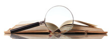 Magnifying Glass And Book Isol...