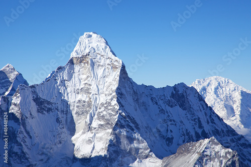Photo  Mount Ama Dablam, view from Island Peak summit, Nepal